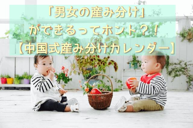 「男女の産み分け」ができるってホント?!【中国式産み分けカレンダー】